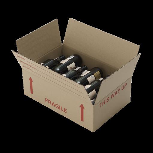 Lay flat wine box
